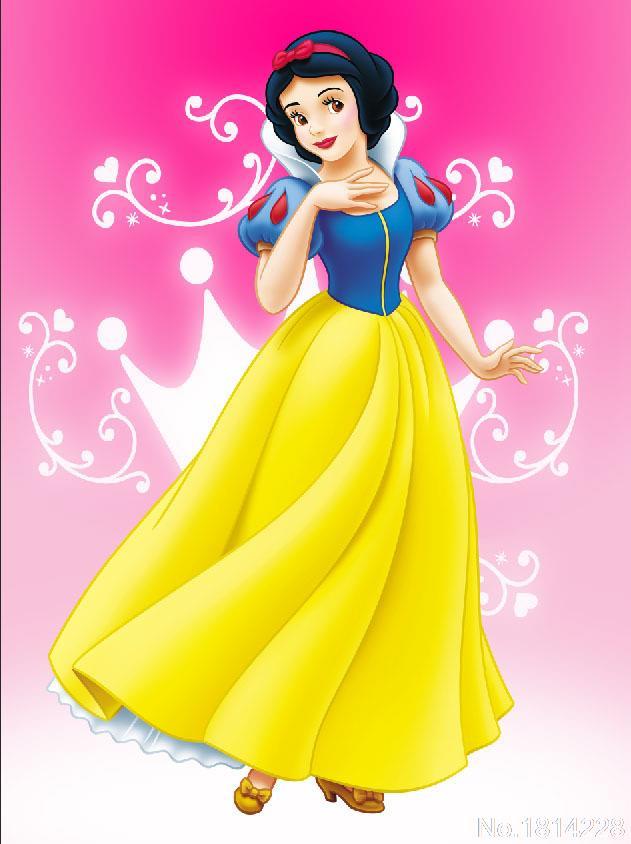 3x5ft Pink Wall Snow White Fairy Princess Dance Girl