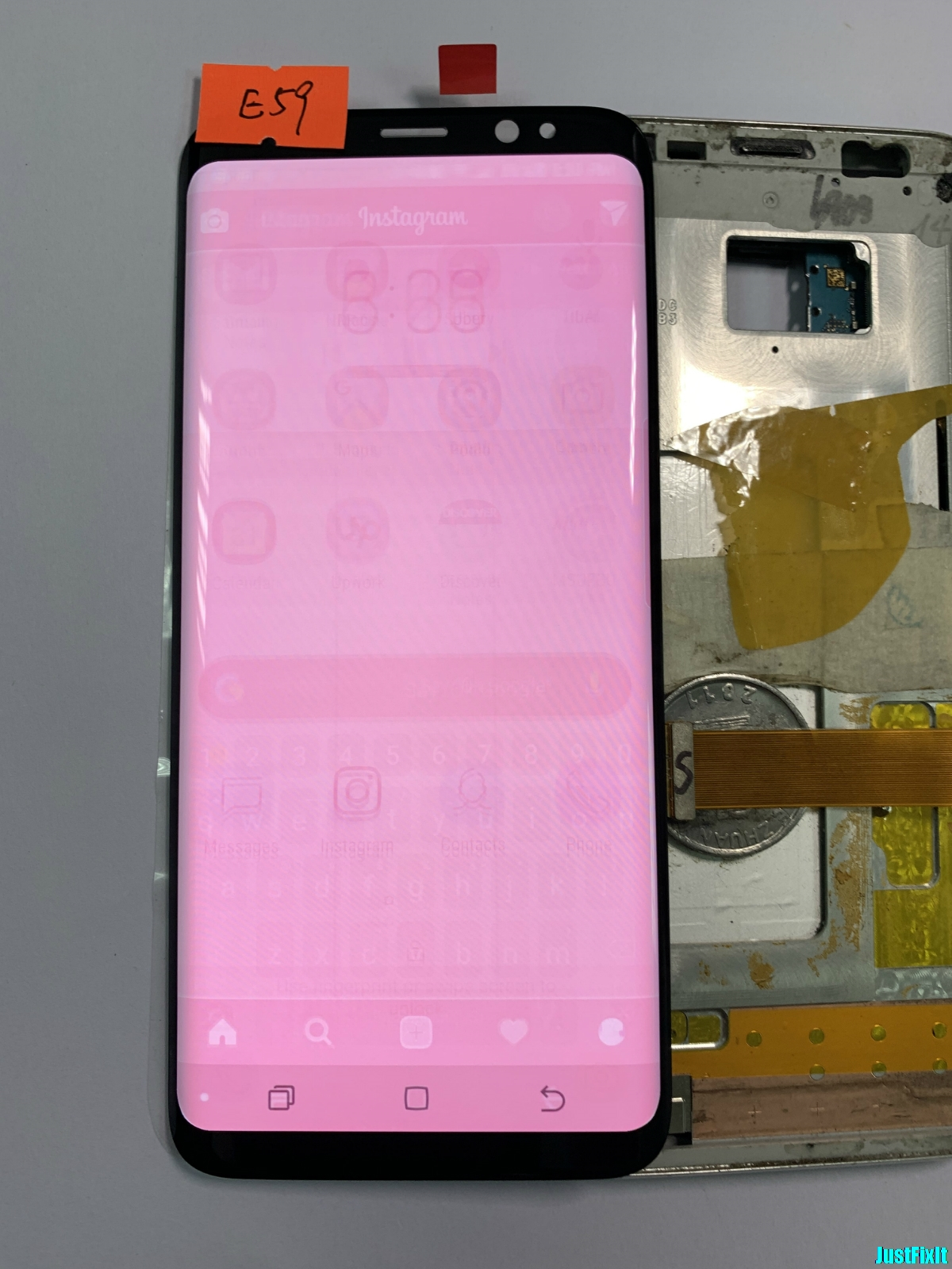 NO.E59 For Samsung Galaxy S8 G950f G950fd G950u Burn-in shadow Lcd Display Touch Screen Digitizer Super AMOLED ScreenNO.E59 For Samsung Galaxy S8 G950f G950fd G950u Burn-in shadow Lcd Display Touch Screen Digitizer Super AMOLED Screen