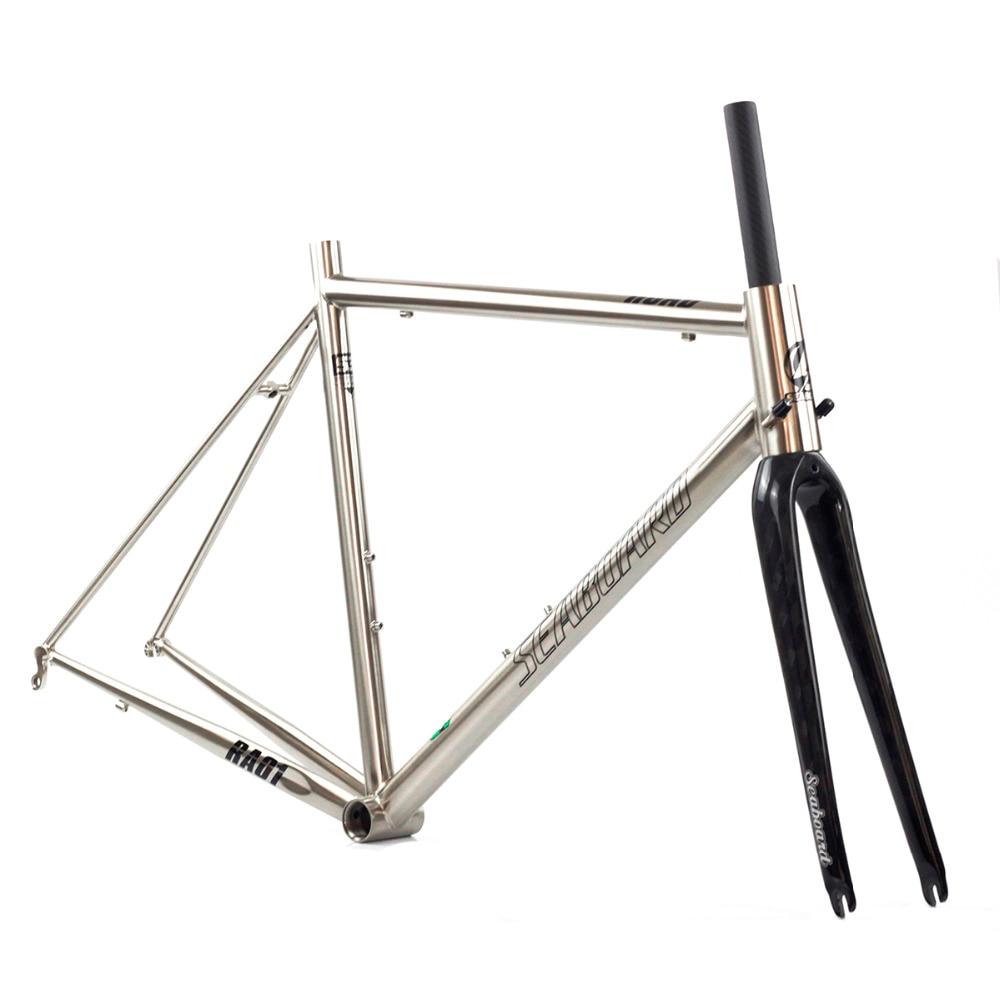 Побережье CR MO Сталь дорожного велосипеда углерода вилка 700C Classic Chrome фреймов коническая кисть серебро 4130 термообработки