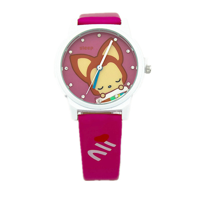 KEZZI children quartz watch fashion cute cartoon fox belt waterproof watch boys and girls students k535 free shipping