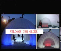 Advertising Inflatable tent with LED colorful lights for outside good atmosphere