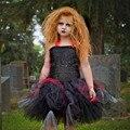 Dollbling Зомби Туту Платье Черный Красный Хеллоуин Костюм Девочки Платье для Halloween Party Страшный Монстр Тема Pag