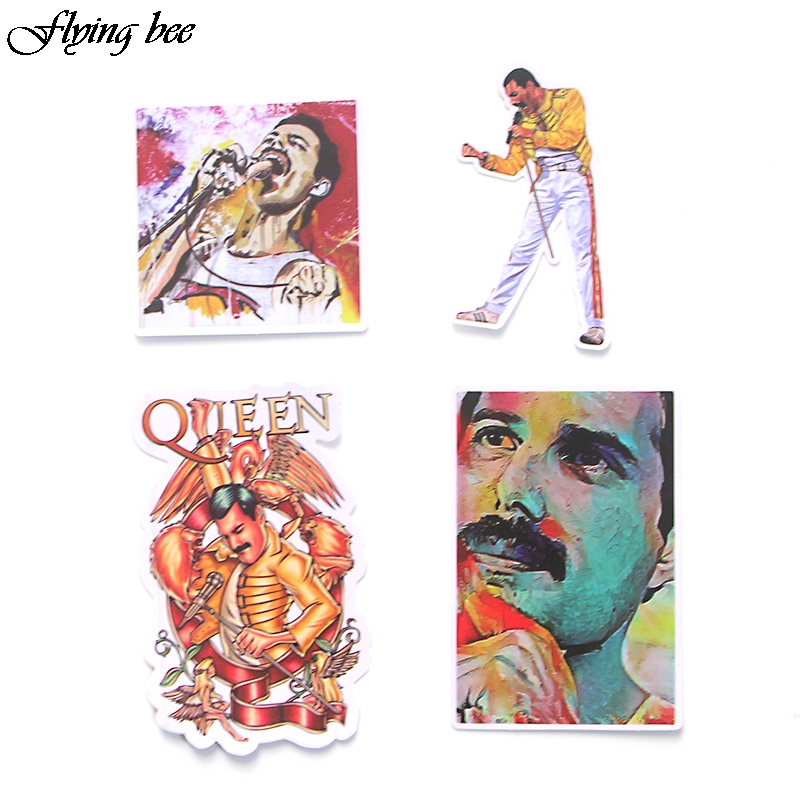 Image 3 - Flyingbee 13 Pcs Freddie Mercury Sticker Graffiti Rock Stickers for Kid DIY Laptop Luggage Phone Car Waterproof Sticker X0001-in Stickers from Consumer Electronics