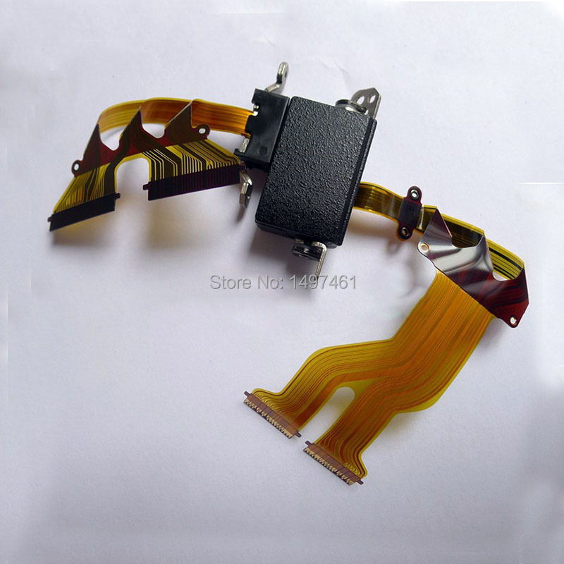 LCD hinge rotate shaft with Flex Cable repair parts for Panasonic HC-WX970M HC-WX979M WX970 WX979 Camcorder