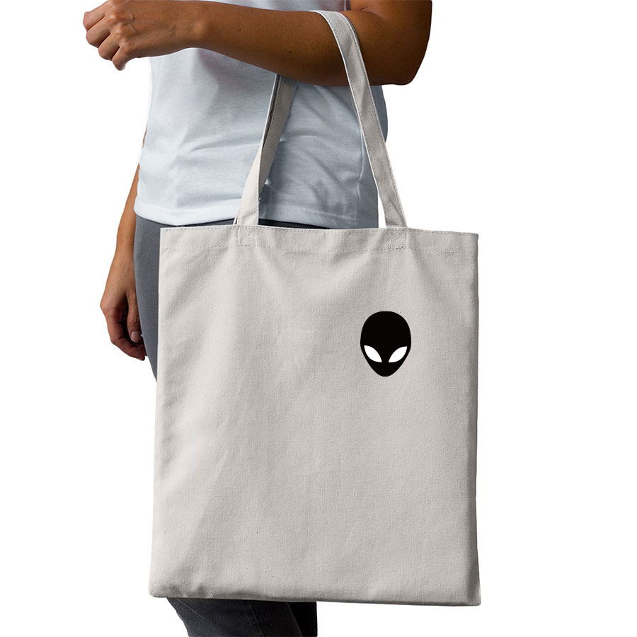 LzVong Three Holo Aliens Canvas Shoulder Bag Handbags Tote Shopping Bag