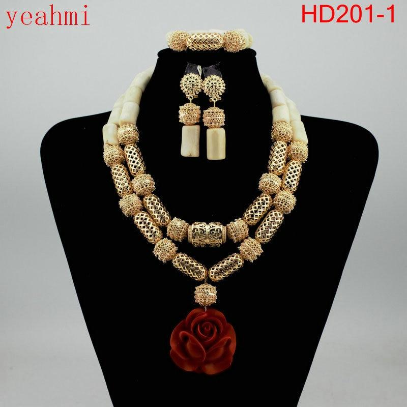 Nigerian Wedding African Beads Jewelry Set Blue African Costume Jewelry Sets Coral Beads Necklace Sets Free Shipping HD201-1