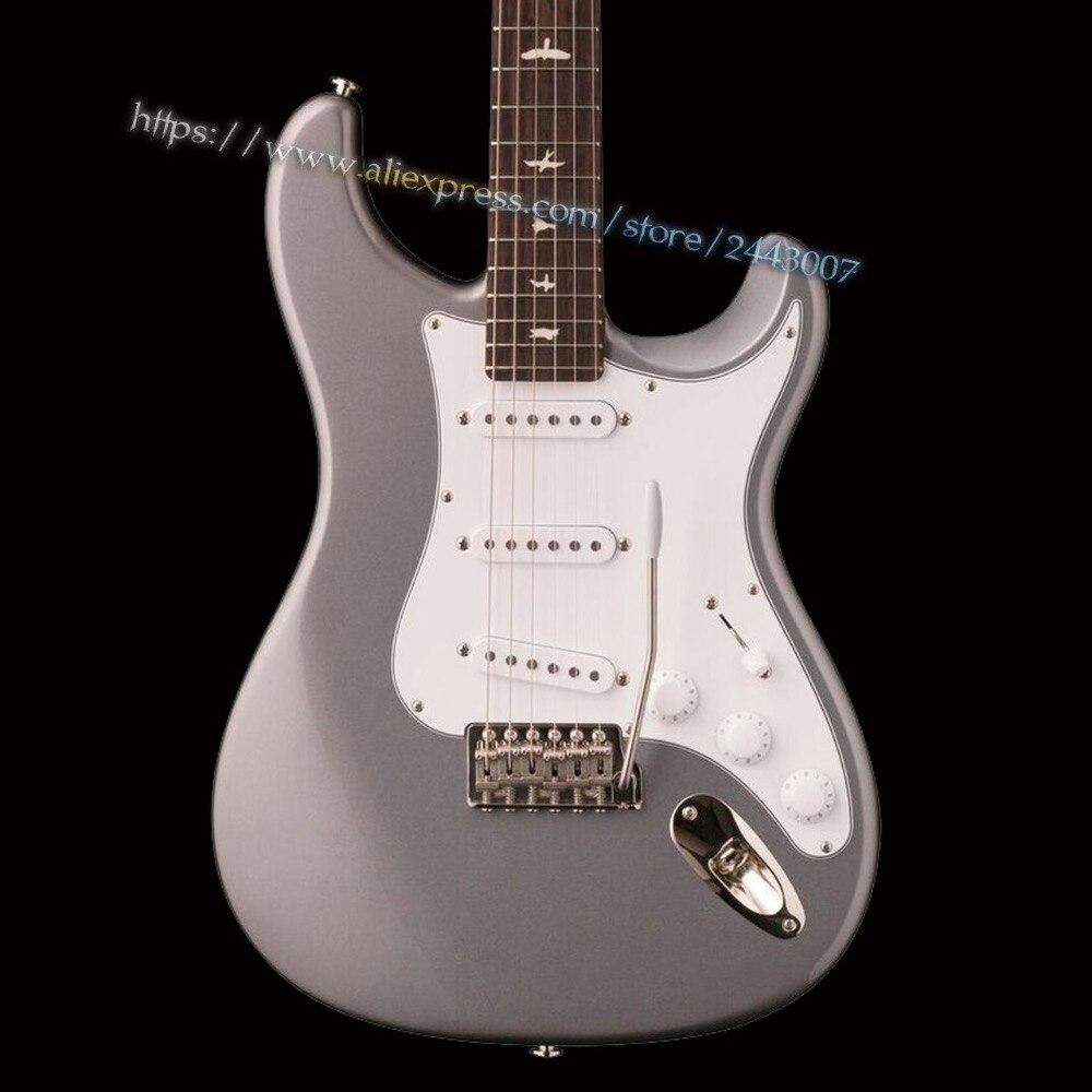 GC Custom Shop John Mayer Signature Sky Electric Guitar Silver Finish epiphone ltd matt heafy signature les paul custom ebony