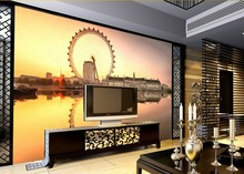 Custom 3d wall mural wallpaper the living room bedroom bedside restaurant  entrance 3d wall wallpaper realistic Ferris wheel