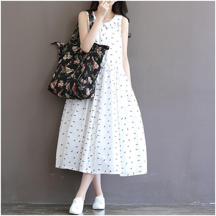2016 Summer New Maternity Dresses Vest Dress White Casual Linen Pregnancy Clothes for Pregnant Women Pregnant