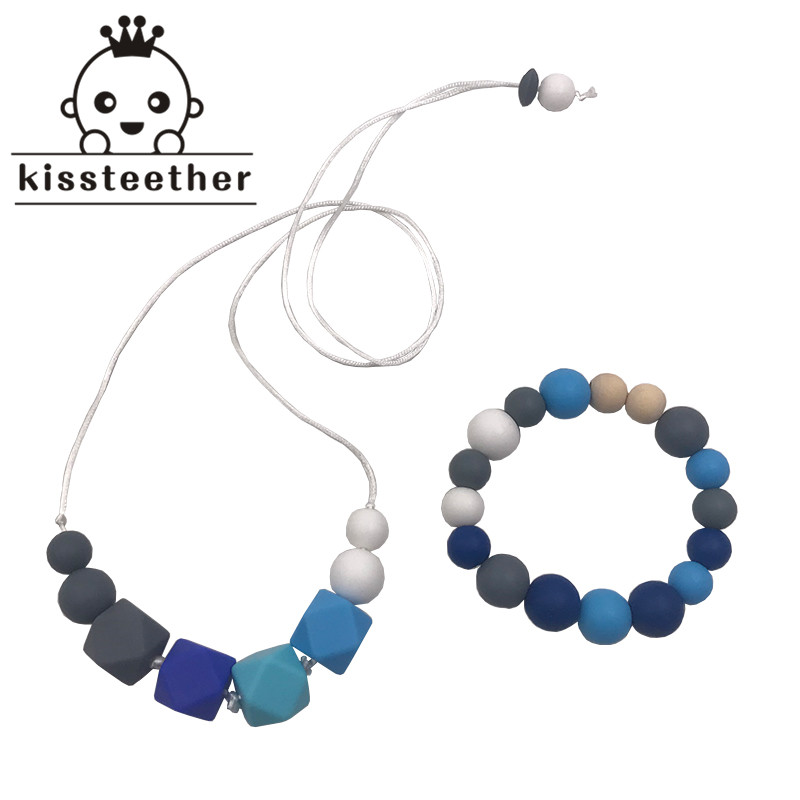 Baby Teething Necklace Bracelet For Mom