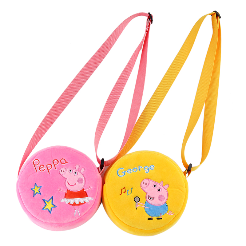 6 Styles Peppa Pig George Pig Plush Toys Kids Girls Boys Kawaii Kindergarten Bag Backpack Wallet Money School Bag Phone Bag