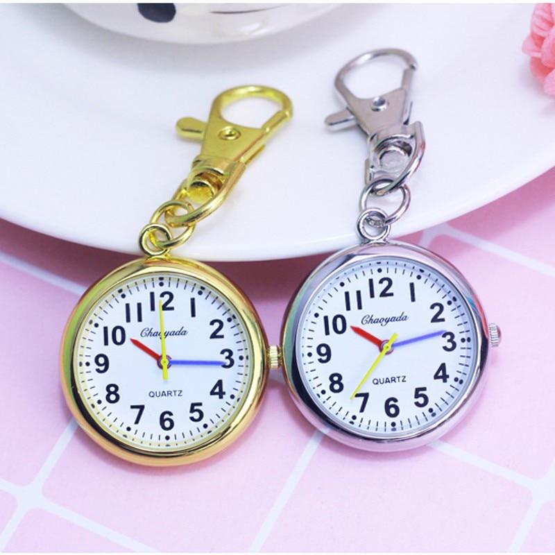 New Kids Pocket Watch Students Test Quartz Clock Key Chain Necklace Nurse Doctor Medical Pocket Watch Relogio Feminino Kol Saati