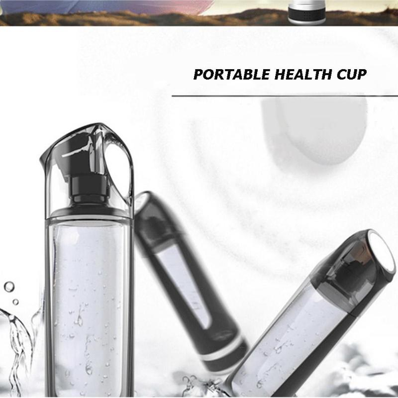 500ml Hydrogen-Rich Water Bottle Alkaline Generator Portable Healthy Cup image