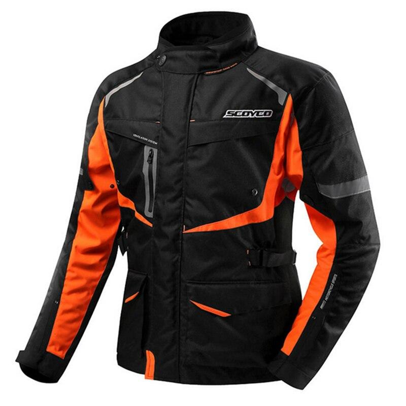 SCOYCO мотоциклетная Одежда Защитная куртка водонепроницаемый Теплый Зимний мотоциклетный жилет сетка материал локоть плеча назад протектор