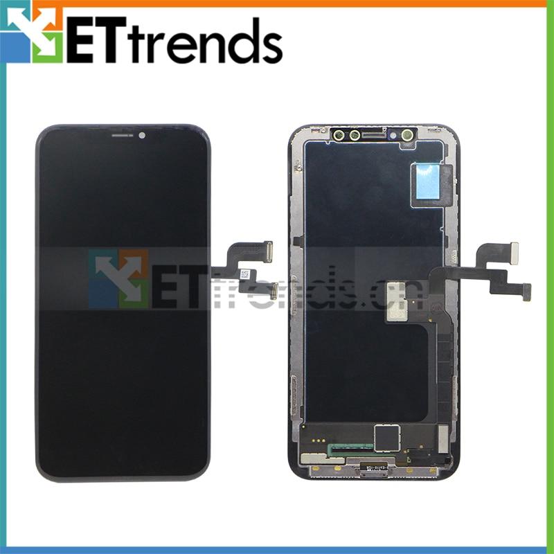 1 unid 2017 nueva llegada 100% Original Montaje de la pantalla del LCD para el iPhone X con garantía de por vida a través del envío de DHL