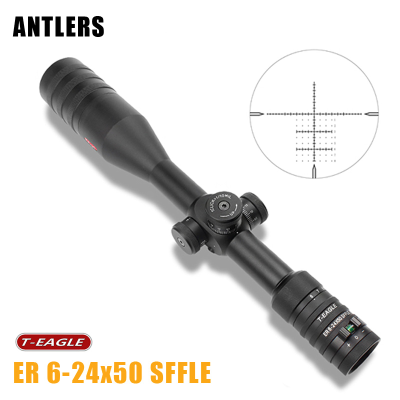 T EAGLE ER 6 24x50 SFFLE Riflescope First Focal Rifle Scope With ...