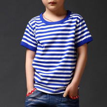 3-13Year 2016 Summer New striped Children T Shirts Boys Kids T-Shirt Designs Teen Clothing For Boys Baby Clothing Girls T-Shirts