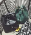 Новый мешок плеча дикий Корейский Корейский простой моды ведро ретро случайный сумка