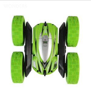 Image 3 - 2.4Ghz Remote Control Cars Stunt Rc Car High Speed Flashing 3D Flip roll Green & Blue Electric Race Double S Toys Christmas gift