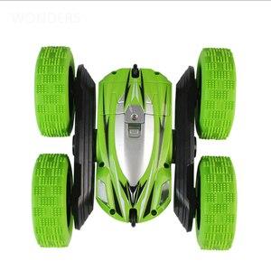 Image 3 - 2.4Ghz di Controllo Remoto Auto Prodezza di Rc Auto Ad Alta Velocità Lampeggiante 3D di Vibrazione rotolo Verde & Blu Corsa Elettrico Doppio S Giocattoli regalo Di Natale