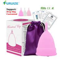 Venta caliente copa Menstrual para mujeres higiene femenina médica 100% copa de silicona Menstrual reutilizable copa menstrual que las almohadillas