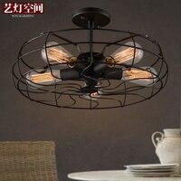 סגנון לופט בית קפה רטרו אדיסון בציר אור תקרת אוהד חדר אוכל אור אולפן אור e27 אור משלוח חינם
