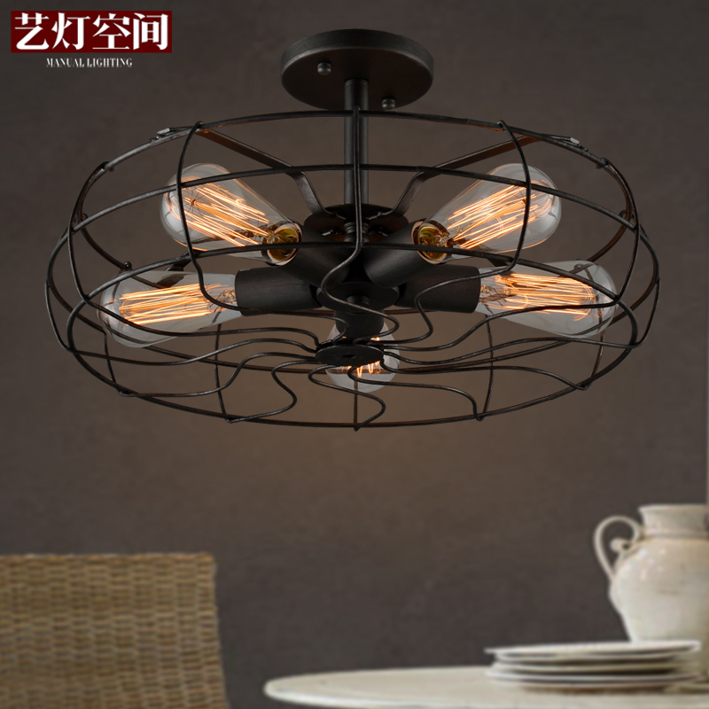 Loft Style Coffee Shop Retro Edison Fan Ceiling Light Vintage Dining Room Light Studio Light E27 Light Free Shipping loft edison vintage retro cystal glass black iron light ceiling lamp cafe dining bar hotel club coffe shop store restaurant