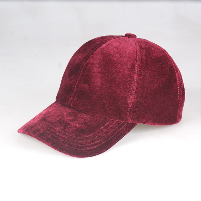 Muchique Red Velvet Baseball Cap Women Snap Back Caps Dad Hat Solid Color  Summer Hat 8222ca7caff