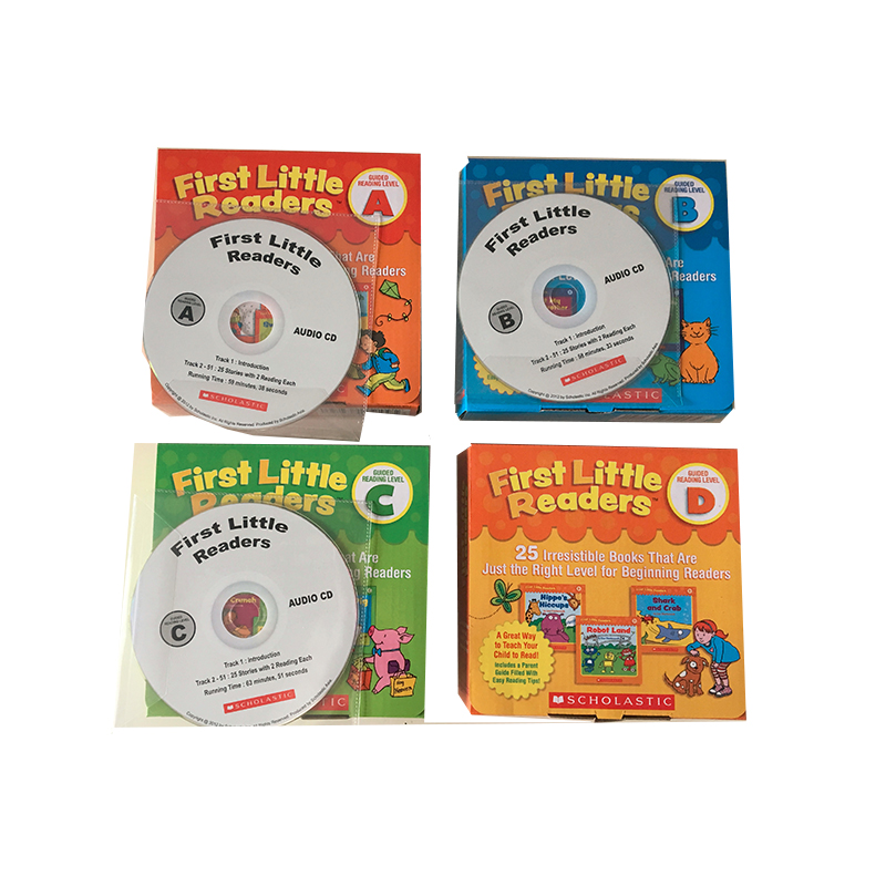 New Arrival 100pcs/set First Little Readers ABCD Let Children Easy To Learn Animals / Food / Season / Daily Necessities With CD