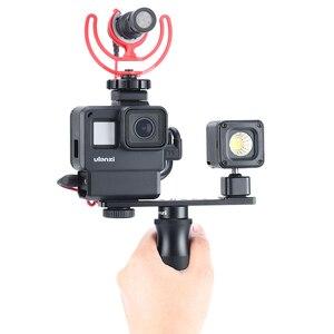 Image 2 - Ulanzi PT 7 Vlog uchwyt przedłużający uchwyt z zimną stopką 1/4 śruba na światło LED do kamery mikrofon Gopro Vlogging Mount