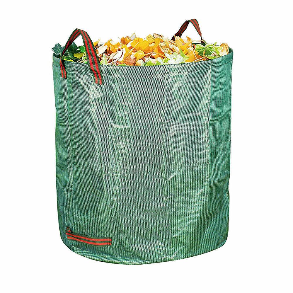 ガーデンバッグ袋セット葉バッグガーデン廃棄バッグ廃棄バッグ 120L ヤード堆肥バッグ環境 PE 布成長プランターごみ袋