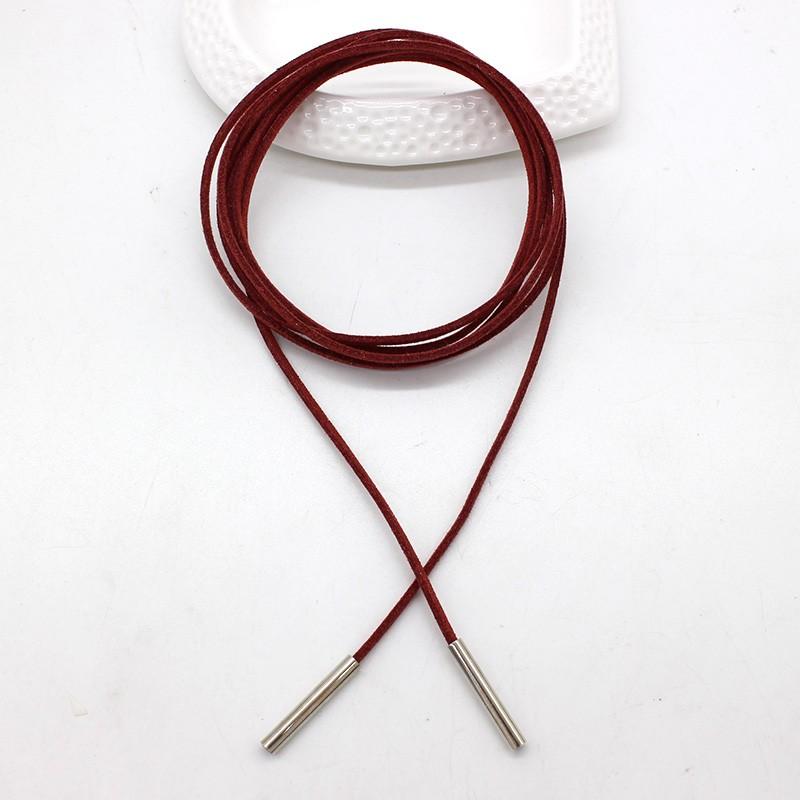 Оптовая бантом колье ожерелье каналом подвески длинную веревку цепи черный кожаный сексуальные ювелирные изделия для женщин заявление колье Гетте