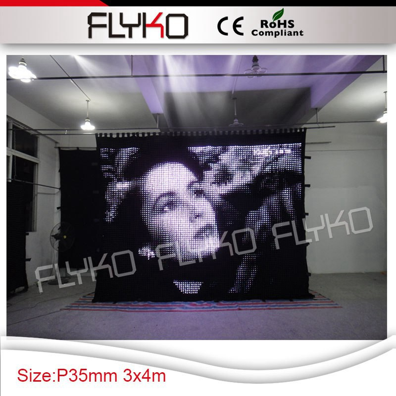 foldable screen led lighting display RGB 3in1 display video function P3.5 dj event decoration 10ft*14ft with flight case