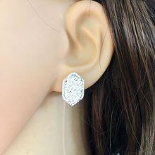 10 colours Drusy Luxury stud Earrings  black druzy Geometry Earing silver plated fashion brand jewelry For women girls KS 16