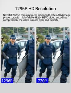 Image 4 - BOBLOV PD50 מלא HD 1296P גוף מצלמה משטרת IR ראיית לילה מיני לנטנה policial וידאו מקליט Dvr WDR אבטחת כיס לנטנה