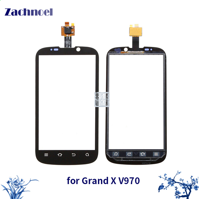 10pcs/lot Touch Screen Digitizer for ZTE Grand X V970 Touchscreen Sensor Lens Front Glass Panel High Quality Replacement Parts