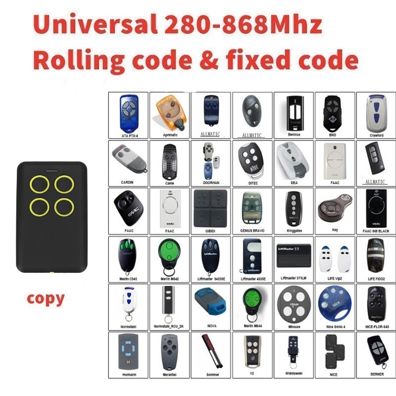 Self-learning  Universal remote control clone Multi frequency copy 280-868mhz Self-learning  Universal remote control clone Multi frequency copy 280-868mhz
