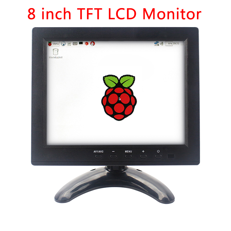 New Arrival Raspberry Pi 3 Display 8 inch TFT LCD Monitor HD Portable Multi-function Display for PC for Raspberry Pi 3 Model B+ cluci aaa akoya bright pink pearls in oysters 10pcs 6 7mm twins best gift for girlfriend wife 20 pearls can get