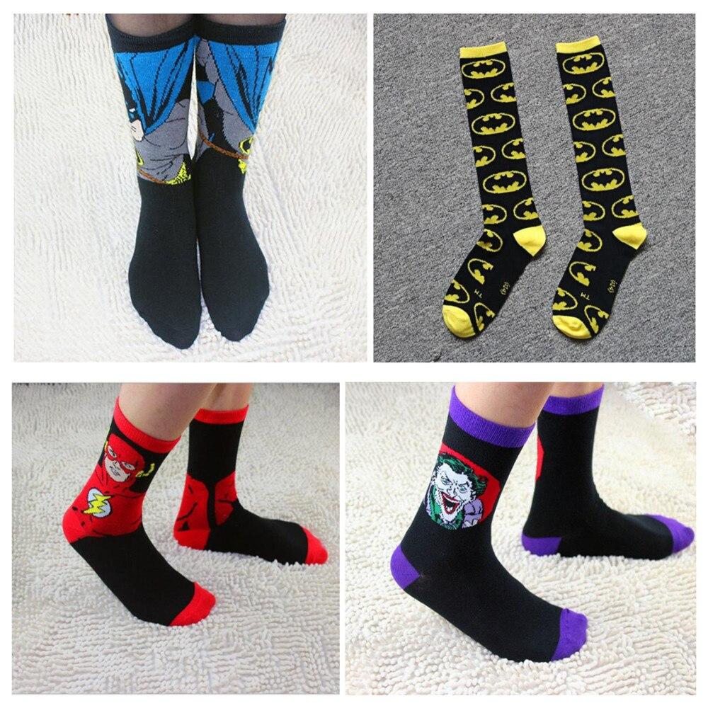 2 Pairs Men Socks Cotton Girls Calf Sock Ankle Socks Mc Hero Series Spiderman Joker Superman Batman Wonder Woman Flash As Gifts Underwear & Sleepwears