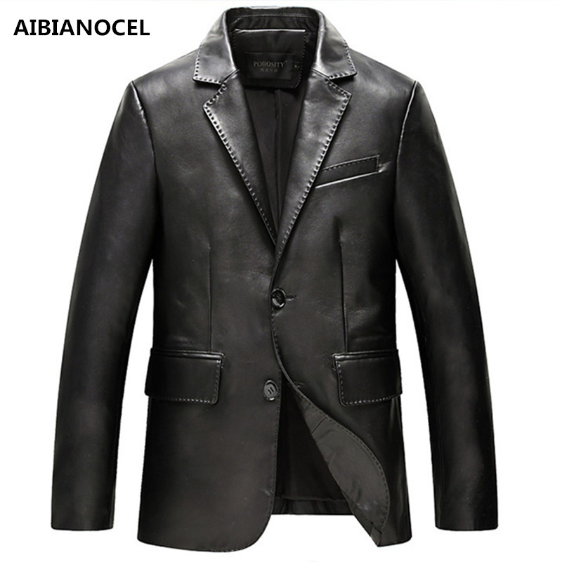 Men Leather Jackets Jackets and Coats Side Zipper Punk Slim Fit Faux Leather Jackets PU Motorcycle