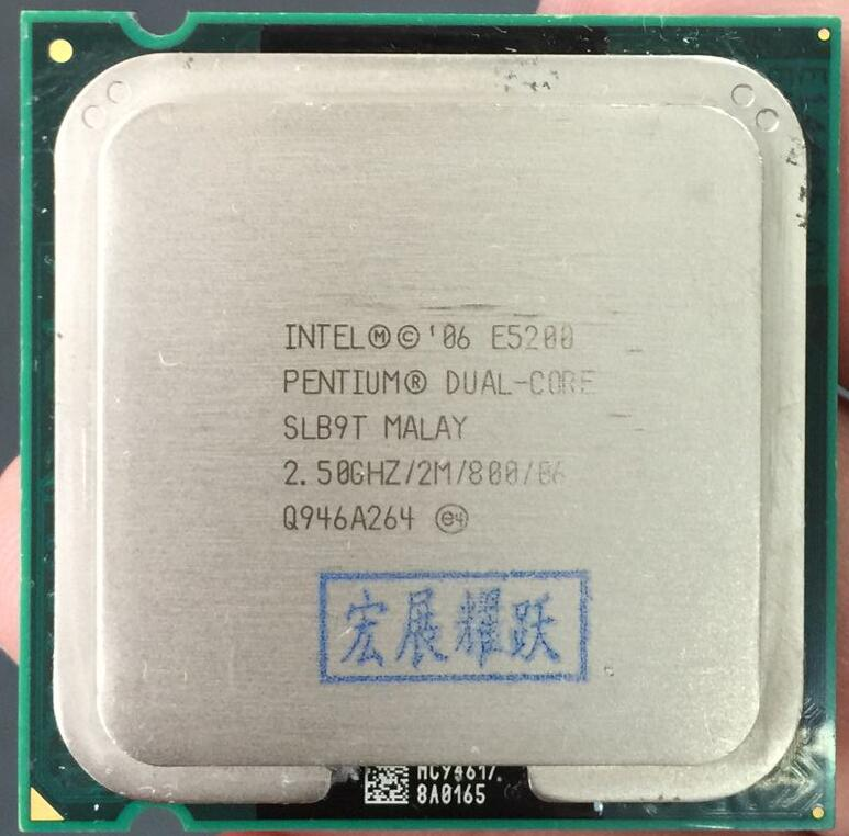 PC Computer  Intel  Pentium  Processor E5200   Dual-Core  CPU LGA 775  100% Working Properly Desktop Processor