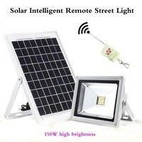 Solar street light 150 W high brightness Project Light Courtyard Street Park Factory Intelligent Remote Floodlight