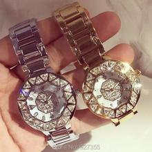 цена 2017 New Style Women Wristwatches Lady Dress Watch Stainless Steel Band Female Wristwatch Female Bracelet Watches Clocks Hours онлайн в 2017 году