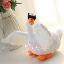 10 pieces a lot small cute plush swan toys lovely simulation white swan dolls gift about 28cm 418