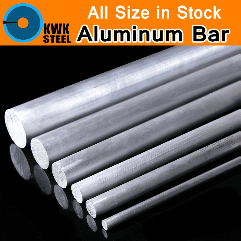 Aluminum AL 6061 Round Bar Aluminium Strong Hardness Rod for Industry or DIY Metal Material Frame Metal Bar for Mould CNC Mold chic metal bar embellished full frame sunglasses for women