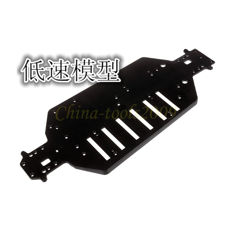 HSP <font><b>04001</b></font> Plastic Black Chassis For 1/10 4WD RC Model Car Buggy Monster Bigfoot Truck 94111 94107 94118 94170 image