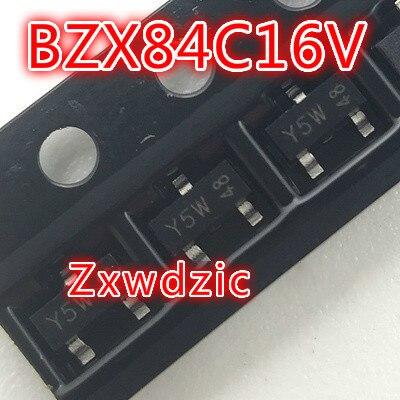 100 pçs/lote BZX84C16V Y5W SOT-23 original Novo