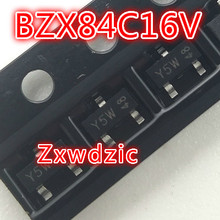 100PCS/LOT BZX84C16V  Y5W  SOT-23 New original sx1308 b628 2a sot 23 25v