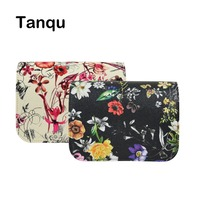 TANQU New Floral Print PU Leather Flap Cover Lid Clamshell With Magnetic Lock Snap Fastener For