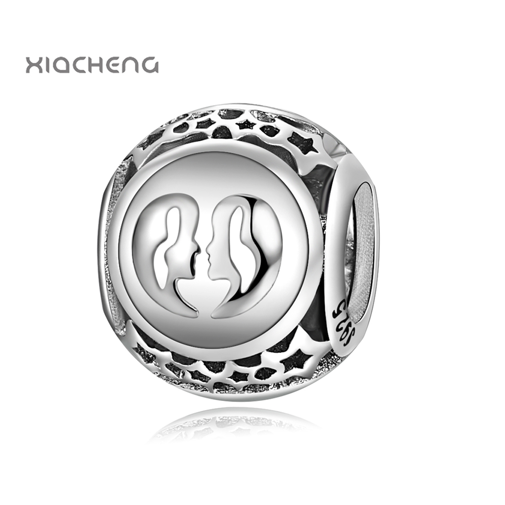 In Popular Brand Gemini Star Sign Charm Beads Diy Fits Pandora Original Charms Bracelet 925 Sterling Silver Jewelry For Women Men Gift Fl417 Fashionable Style;